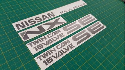 Picture of Nissan Pulsar NX Twin Cam 16 Valve SE replacement Decals / Stickers
