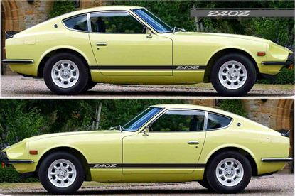 Picture of Datsun 240Z / Nissan Fairlady Z Side stripes Decals / stickers