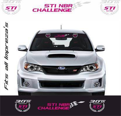 "Picture of Subaru Impreza Sun Strip  / Sticker ""30th anniversary NBR challenge"""