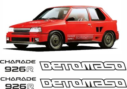 Picture of Daihatsu Charade 926 R Detomaso  replacement side  Decals / Stickers