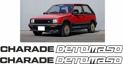 Picture of Daihatsu Charade G30 / G11  Detomaso  replacement side  Decals / Stickers