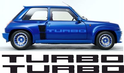 Picture of Renault 5 Gordini Turbo Side Door restoration Decals / Stickers