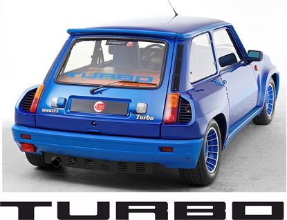 "Picture of Renault 5 Gordini Turbo 2,  Rear screen ""Turbo"" Decal / Sticker"