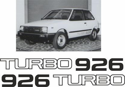 Picture of Daihatsu Charade Turbo  926    replacement side  Decals / Stickers