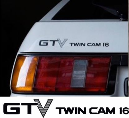 Picture of Toyota AE86 GTV Twin cam 16  replacement rear / hatch Decal/ Sticker