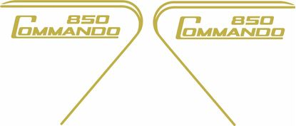 "Picture of Norton ""Commando 850"" replacement  side panel  Decals / Stickers"