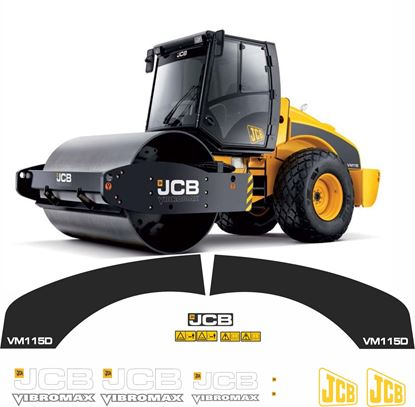 Picture of JCB Vibromax VM115 Soil Compactor Replacement Decals / Stickers