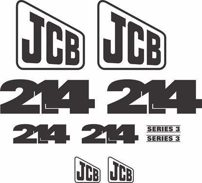 Picture of JCB 214 Series 3 Backhoe Replacement Decals / Stickers