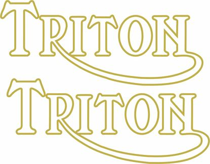 "Picture of Norton / Triumph ""Triton""  Decals / Stickers"