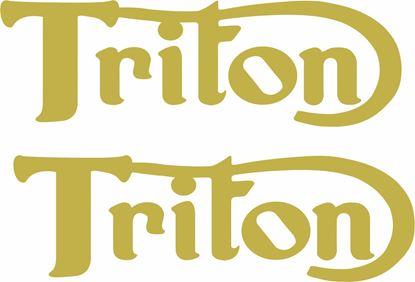 """Picture of Norton / Triumph """"Triton"""" Decals / Stickers"""