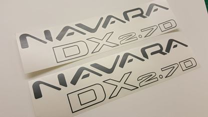 Picture of Nissan Navara DX 2.7D (D22)  replacement side Decals / Stickers