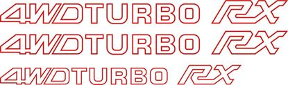 Picture of Subaru Leone RX 4WD TURBO Replacement rear / Hatch & Side  Decals / Stickers