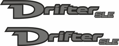 Picture of Mazda B2500 / BT-50 Drifter SLE replacement side Decals / Stickers