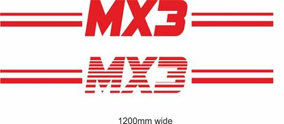 "Picture of Mazda ""MX3"" Backflash Screen Sticker / Decal"
