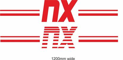 "Picture of Nissan  ""NX"" Backflash Screen Sticker / Decal"