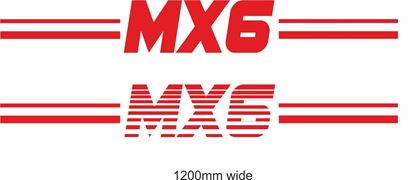 "Picture of Mazda ""MX6"" Backflash Screen Sticker / Decal"