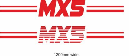 "Picture of Mazda ""MX5"" Backflash Screen Sticker / Decal"