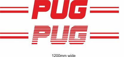 "Picture of Peugeot  ""Pug"" Backflash Screen Sticker / Decal"