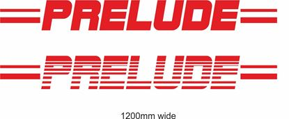 "Picture of Honda  ""Prelude""  Backflash Screen Sticker / Decal"
