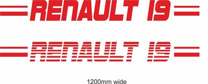"Picture of Renault  ""Renault 19"" Backflash Screen Sticker / Decal"