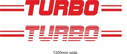 "Picture of ""Turbo"" Backflash Screen Sticker / Decal"