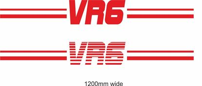 "Picture of VW  Golf / Corrado ""VR6"" Backflash Screen Sticker / Decal"