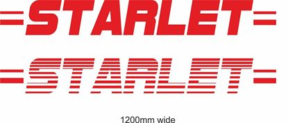 "Picture of Toyota  ""Starlet"" Backflash Screen Sticker / Decal"