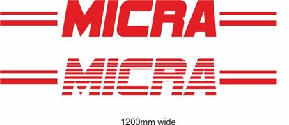 "Picture of Nissan  ""Mica"" Backflash Screen Sticker / Decal"