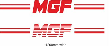 "Picture of MG / Rover ""MGF"" Backflash Screen Sticker / Decal"