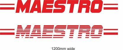 "Picture of MG  / Austin rover ""Meastro"" Backflash Screen Sticker / Decal"