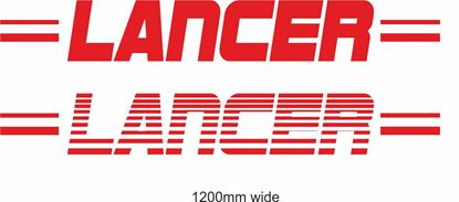 "Picture of Mitsubishi  ""Lancer"" Backflash Screen Sticker / Decal"