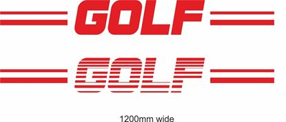 """Picture of VW  """"Golf"""" Backflash Screen Sticker / Decal"""