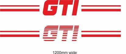 "Picture of ""GTI"" Backflash Screen Sticker / Decal"