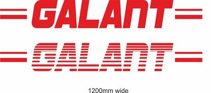 "Picture of Mitsubishi  ""Galant"" Backflash Screen Sticker / Decal"