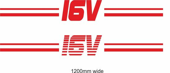 "Picture of ""16V"" Backflash Screen Sticker / Decal"