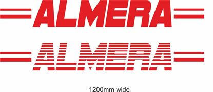 "Picture of Nissan  ""Almera"" Backflash Screen Sticker / Decal"