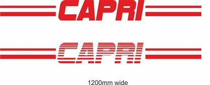 "Picture of Ford  ""Capri""  Backflash Screen Sticker / Decal"