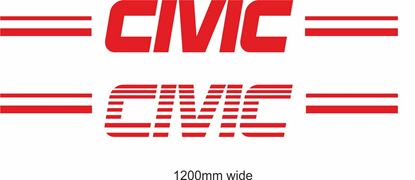 "Picture of Honda  ""Civic""  Backflash Screen Sticker / Decal"