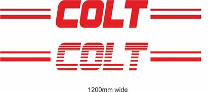"Picture of Mitsubishi  ""Colt"" Backflash Screen Sticker / Decal"