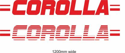"Picture of Toyota  ""Corolla"" Backflash Screen Sticker / Decal"