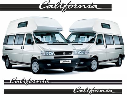 "Picture of VW T4 or T5  ""California"" lower side Stripes / Decals"