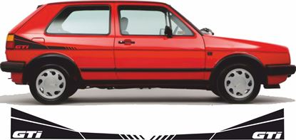 """Picture of Golf MK2  """"GTI"""" side rear quarter Decals / Stickers"""