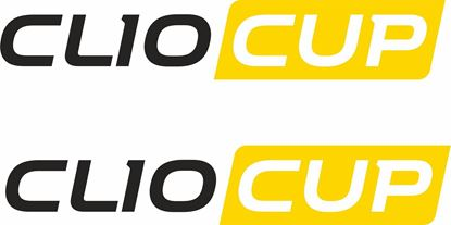 """Picture of Renault """"Clio cup"""" panel or Glass Decals  / Stickers"""