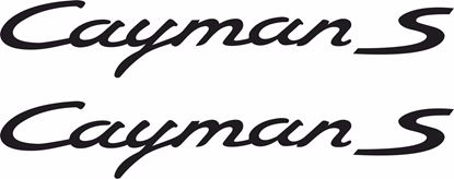 "Picture of Porsche ""Cayman S""  General panel Decals / Stickers"