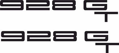 "Picture of Porsche ""928 GT""  General panel Decals / Stickers"