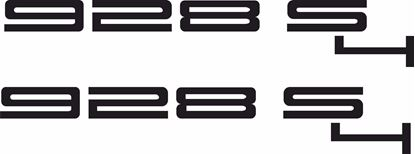 "Picture of Porsche ""928 S4""  General panel Decals / Stickers"
