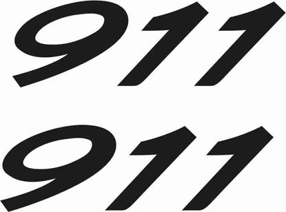 "Picture of Porsche  ""911""  General panel Decals / Stickers"