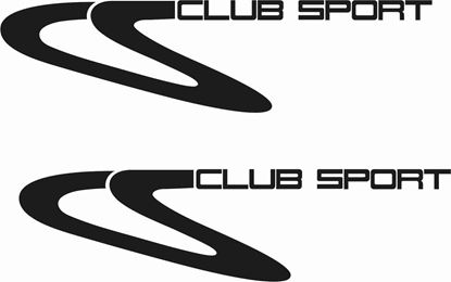 "Picture of Porsche 968 / 911 ""CS Club Sport""  General panel Decals / Stickers"