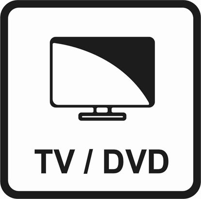 "Picture of Bus / Coach ""TV / DVD"" Sticker"