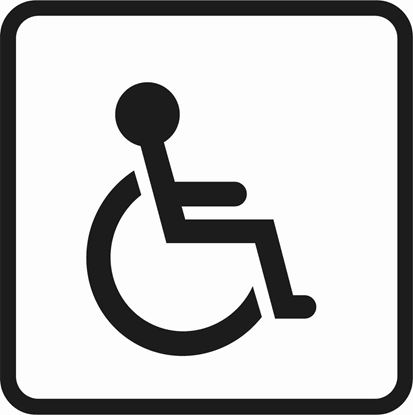 "Picture of Bus / Coach ""Disabled"" Sticker"